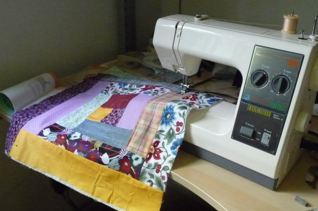 quilting the pillow