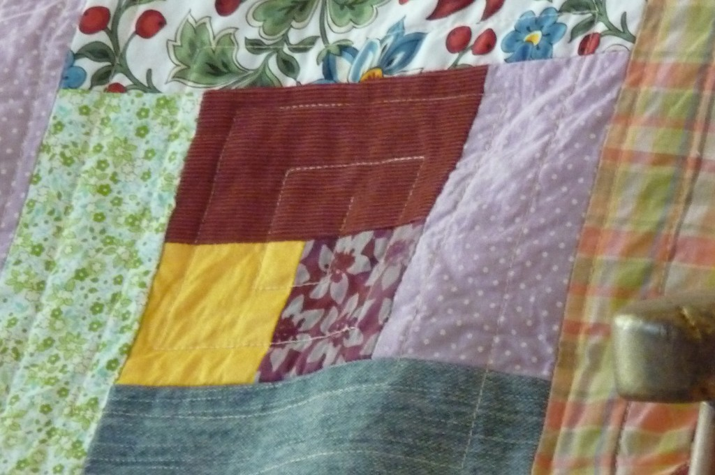 quilted pillow detail