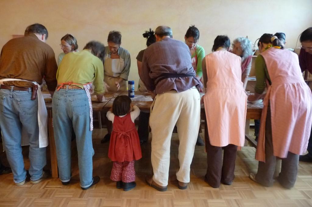 Marta leads bread baking workshop!