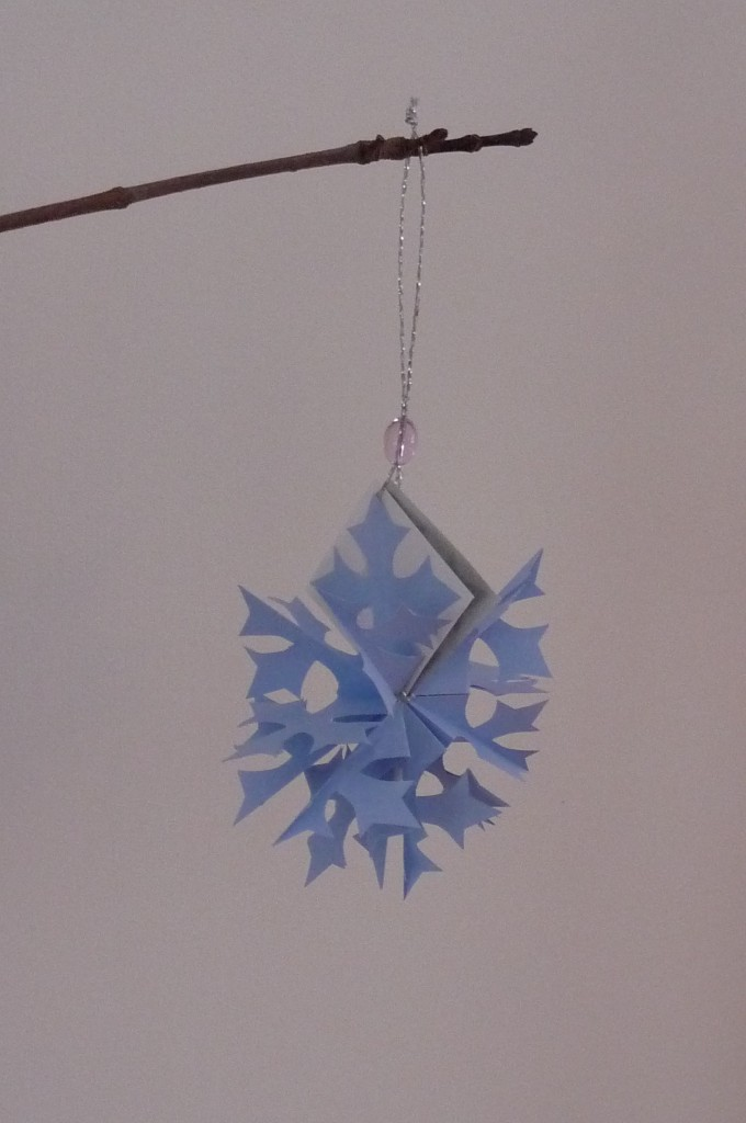 popup snowflake card open