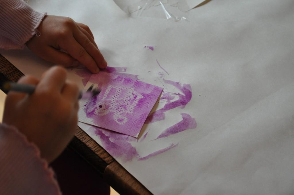 Marta paints