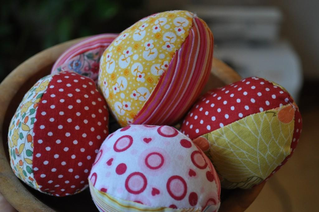 sewn eggs