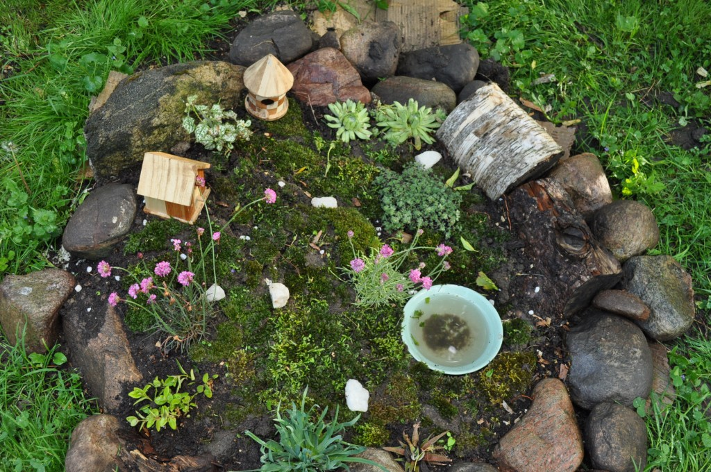 old fairy garden - top view